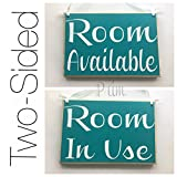 Prim and Proper Decor Two Sided Room Available Room In Use 8×6 (Choose Color) Consultation Busy Vacant Do Not Disturb Door Office SignCustom Rustic Shabby Chic Wood Sign Review