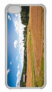 taoyix diy Customized iphone 5C PC Transparent Case - Farm Fields Personalized Cover