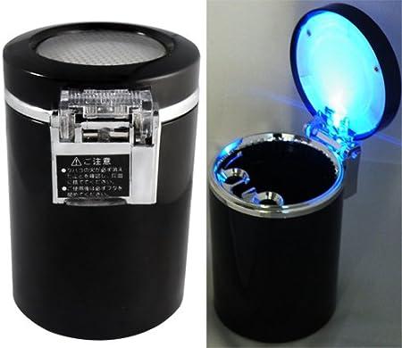 Support en Plastique Noir-Cendrier de voiture avec lumière LED bleue