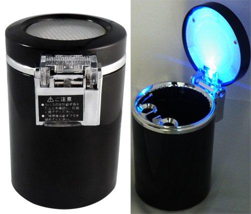 2 x Kfz-Aschenbecher, LED-beleuchtet, mit Akku, Schwarz EXCITES_FR Co. LTD