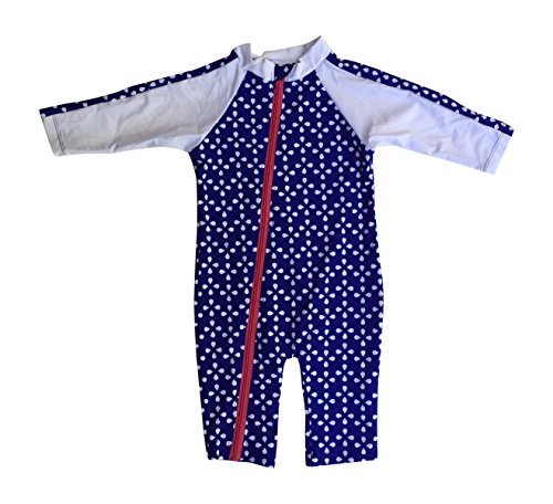 7b5e8bf600 SwimZip Little Girl Long Sleeve Sunsuit Romper Swimsuit UPF 50 Sun  Protection