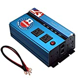 Jacknthe 2000W Power Inverter 12V DC to 110V AC Car Converter with 2 AC Outlets 4 USB Ports Vehicle Inverter with Dual Cigarette Lighter Socket and Digital Display