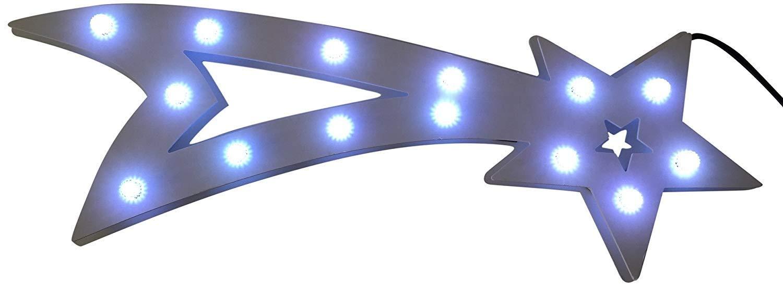 Innenräume Draußen Lichterketten Led Streifen Weihnachts Innenbe Außenbe Lauflichter Lichtschläuche Fenstersilhouette, Kunststoff, weiß, 60 x 20 x 2 cm