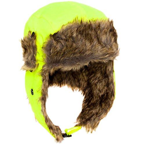 Dakota Dan Mens Ear Flap Cap w/ Faux Fur Lining (High Velocity)
