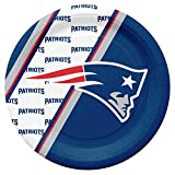 Duck House NFL New England Patriots Disposable Paper Plates, Pack of 20