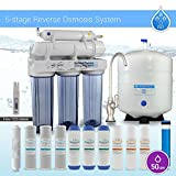 Max Water 5Stage Reverse Osmosis System Extra 7Filters & TDS Meter Designer Brushed Nickel