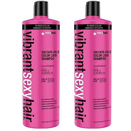 Vibrant Sexy Hair Color Lock Sulfate-Free Shampoo, 33.8 Ounce, Pack of 2