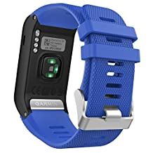Garmin Vivoactive HR Watch Band, MoKo Soft Silicone Replacement Watch Band ONLY for Garmin Vivoactive HR Sports GPS Smart Watch with Adapter Tools - Royal BLUE