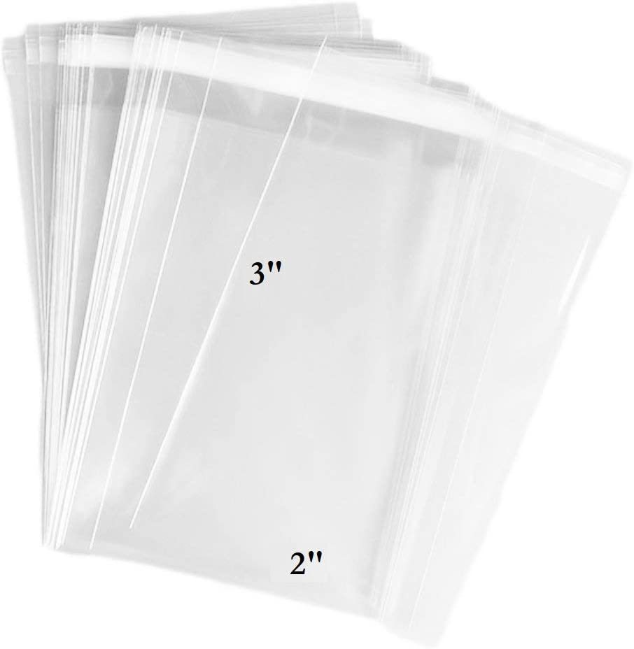 """8/"""" x 10/"""" Clear Reclosable Plastic Polybags Top Seal Baggies 2Mil Jewelry 500 Pcs"""