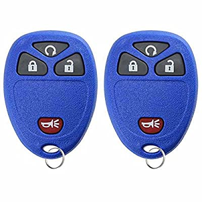 KeylessOption Keyless Entry Remote Control Car Key Fob Replacement for 15913421 -Blue (Pack of 2): Automotive