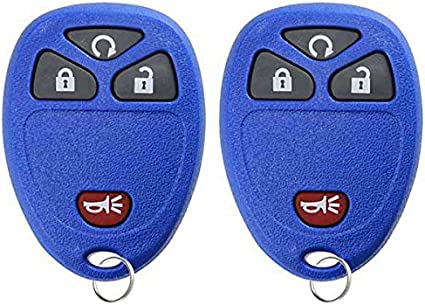 KeylessOption Keyless Entry Remote Control Car Key Fob Replacement For 15913421 Pack of 2