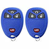 KeylessOption Keyless Entry Remote Control Car Key Fob Replacement For 15913421 -Blue (Pack of 2)