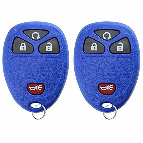 KeylessOption Keyless Entry Remote Control Car Key Fob Replacement For 15913421 -Blue (Pack of 2) Blue Key Fob