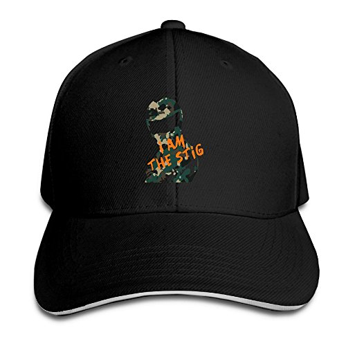 Black Stig Costume (GVXCAPS DesingName Mens Sandwich Cap Snapback)