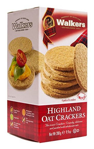 Scottish Food (Walkers Shortbread Highland Oat Crackers, 9.9 Ounce (Pack of 6) Traditional Oatcake Crackers)