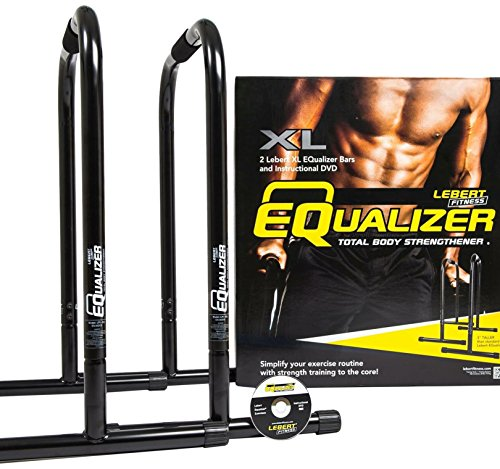 Lebert Fitness Equalizer Bars Total Body Strengthener, Black, Extra Large