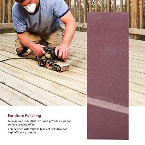 10PCS 610 x 100MM紙やすりで磨くベルトの木製の家具ハードウェアのための酸化アルミニウムの研摩ベルトの紙やすりで磨くバンド(40#)