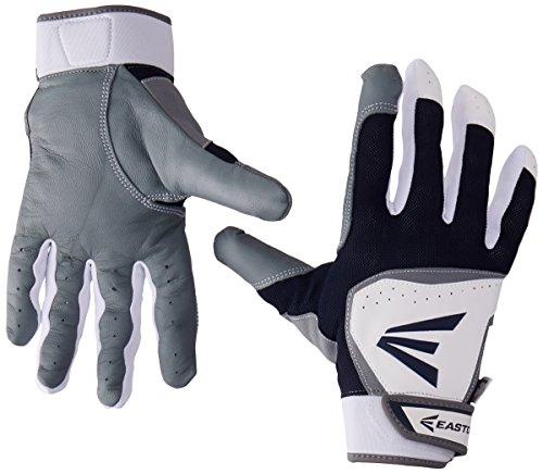 - Easton HS7 Batting Gloves, White/Navy, Small