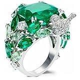 A.Yupha 925 Silver Ring Huge Topaz Frog Animal Women Man Wedding Engagement Size 6-10#1 (8)