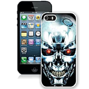 Beautiful And Unique Designed Case For iPhone 5 With Terminator Robot Skull (2) Phone Case