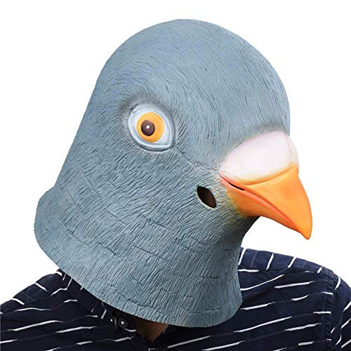 SUNKY Pigeon Adult Latex Head Mask Creepy Animal Costume for Halloween Party -