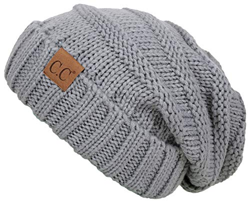 Funky Junque H-6100-76 Oversized Slouchy Beanie - Dove Grey