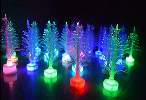 White Fibre Optic Christmas Tree With Blue Led Lights in US - 4