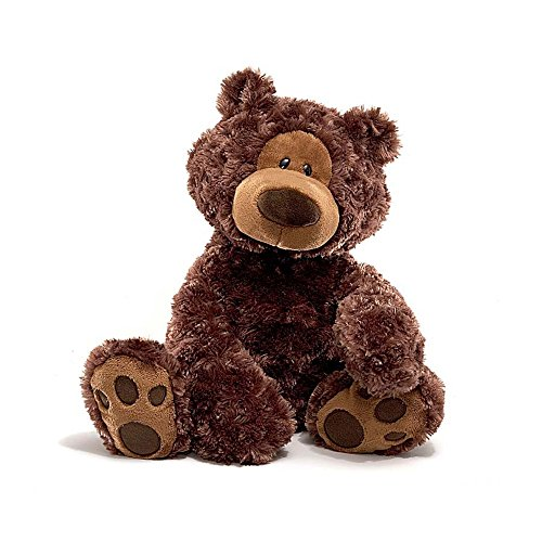 (GUND Philbin Teddy Bear Stuffed Animal Plush, Chocolate Brown, 18