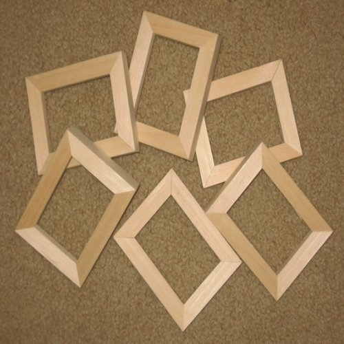 Amazoncom Unfinished Wood Picture Frames In Lots Of 6 In 58 Wide