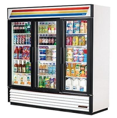 True Mfg GDM-72, 3 Door, Glass Swing Door Refrigerator