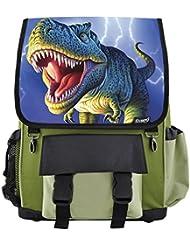 Lightning T-Rex Dinosaur School Backpack for Boys, Girls, Kids