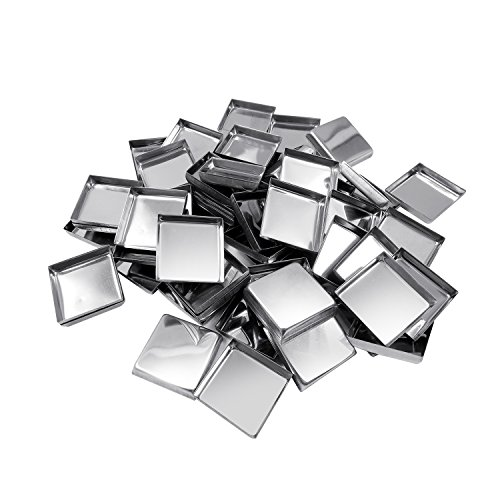 (Allwon 56 Pack Empty Square Metal Pans for Eyeshadow Palette Magnetic Makeup Palette (26mm))