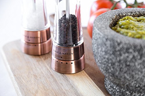 COLE & MASON Derwent Salt and Pepper Grinder Set - Copper Mills Include Gift Box, Gourmet Precision Mechanisms and Premium Sea Salt and Peppercorns by Cole & Mason (Image #6)