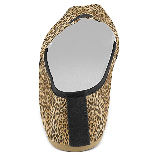 Mocassini Da Donna Di Interestprint Classico Su Tela Casual Slip On Scarpe Moda Scarpe Da Ginnastica Mary Jane Flats Leopard