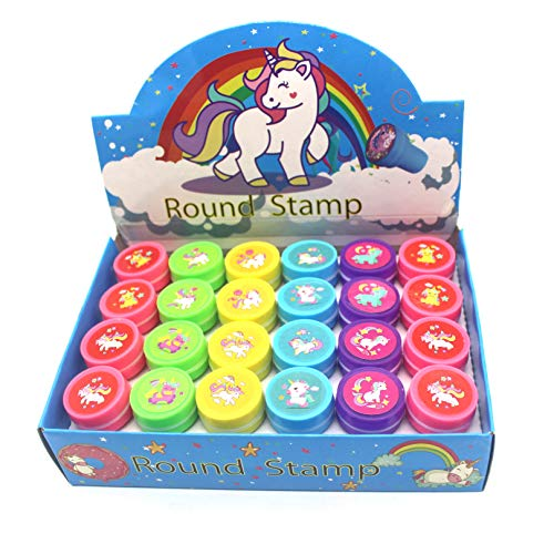 24PCS Unicorn Stampers For Kids,Variety Prints And Colors Unicorn Stamps For Birthday Party Favors, Pinata Fillers, Carnival Prizes, Goodie Bags, Arts & Crafts & More