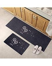 2Pcs Clover/Dandelion Style Kitchen Mats Rugs Sets Anti-Skid Floor Carpet Bathroom Doormats Room Pad Slip-Resistant Washable Entrance Door Mat Hallway Floor Area Rug (B)