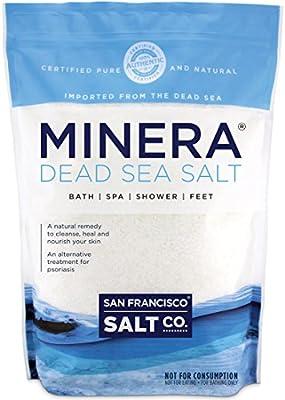 Minera Natural Dead Sea Salt, 5lbs Bulk - Fine Grain by San Francisco Salt Company