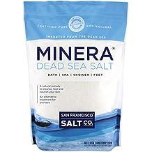 Minera Dead Sea Salt Bulk 5lb Bag Fine Grain, 100% Certified Pure and Natural