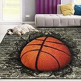 Naanle Sport Basketball Non Slip Area Rug for Living Dinning Room Bedroom Kitchen, 2' x 3'(24 x 36 Inches), Sport Nursery Rug Floor Carpet Yoga Mat