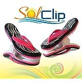 Towel clips, pegs, clamps, épingles, pinces à serviette de plage, SolClip, Canada, Flip Flop Zebra