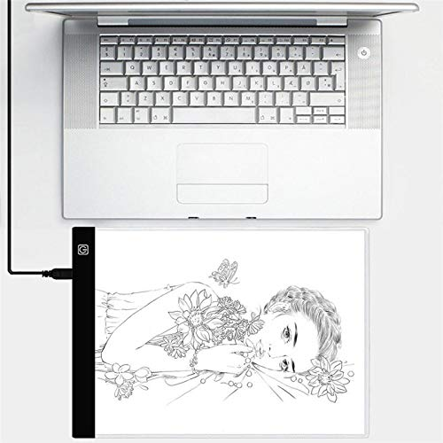 Best Quality - Photo Studio Accessories - Mini A5 Size LED Tracing Light Box Graphic Tablet Writing Painting 3 Dimmable Brightness Tracing Board Copy Pads Digital Drawing - by VietFA - 1 PCs