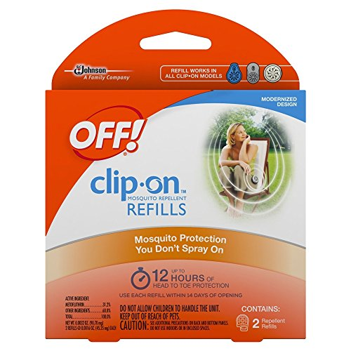 Off! Clip On Insect Repellant Refill, 4 Packs of 2