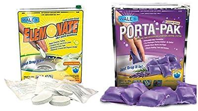 "Walex Elemonate ""Lemon Scent"" Porta-Pak ""Lavender Breeze"" Gray Water / Black Water Holding Tank Toilet Treatment Deodorizer Drop Ins COMBO PACK"
