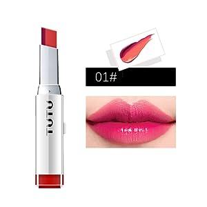 Prettyuk Maquillage Double Couleur Gradient Rouge à Lèvres Brillant Coréen Maquillage Lèvres Cosmétiques Visage Maquillage Étanche