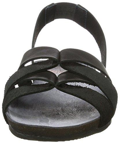 Fred de la Bretoniere Fred de La Bretoniere Sandale - Sandalias con cuña Mujer Schwarz (Black)