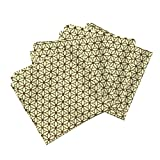 Roostery New Organic Sateen Dinner Napkins Flower of Life Natural by Leahvanlutz Set of 4 Cotton Dinner Napkins Made