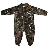 Georgia Bulldogs NCAA Newborn Baby Camouflage Long Sleeve Footed Romper (6-9)