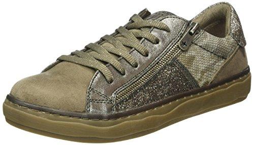 Marco Tozzi 23700, Zapatillas para Mujer Marrón (TAUPE ANT.COMB 349)