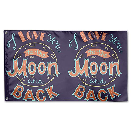 BINGOGING FLAG Decorative House Flags - Moon And Back Outdoo