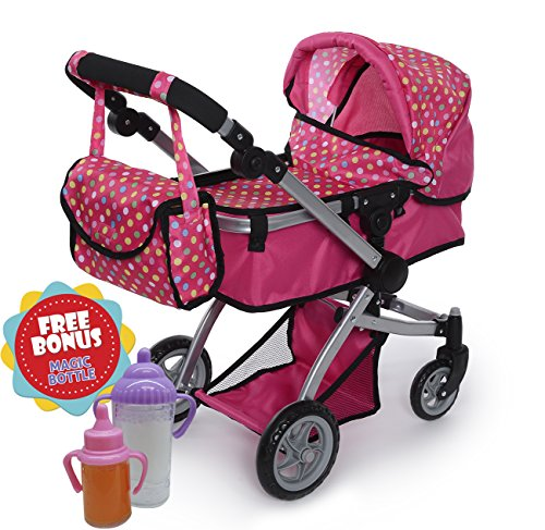 Dolls Twin Prams Pushchairs - 6